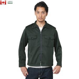 実物 USED カナダ軍 2ポケット ファティーグジャケット メンズ ミリタリー アウター ブルゾン ジャンバー【クーポン対象外】|waiper