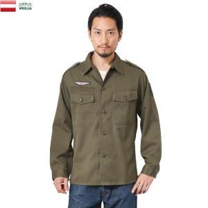実物 USED オーストリア軍 AIR FORCE コンバットシャツ メンズ 軍服 ミリタリーシャツ 長袖 パッチ ワッペン付き エポレット付き 放出品|waiper
