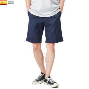 実物 新品 スペイン Postal service ワークショートパンツ(グルカショーツ) デッドストック メンズ ハーフパンツ 半ズボン 半パン 短パン|waiper