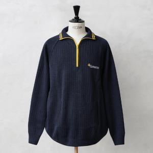 実物 新品 スペイン Correos ジッパー セーター コレオス メンズ ニット ハイネック ジッパー付き 薄手 デッドストック|waiper