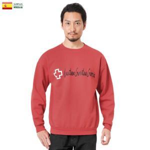 実物 USED スペイン赤十字 レッドクロス スウェットシャツ GAZTEEN GURUTZE GORRIA メンズ レディース トレーナー 裏起毛 ゆったり おしゃれ|waiper