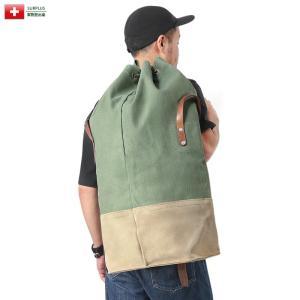 ■商品説明 厚手のヘビーデューティーコットンツイルとレザーを使用した丈夫なダッフルバッグで、底には鉄...