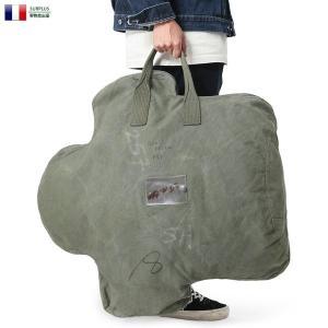 実物 USED フランス軍 DEFORMATION TYPE コットンキャンバス バッグ バックパッ...