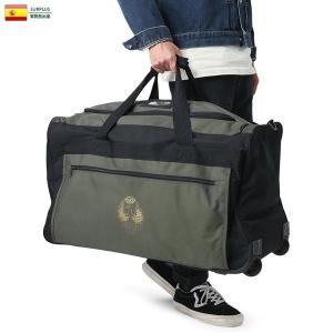 実物 新品 スペイン軍 GOLD EMBLEM トランスポート キャリーバッグ デッドストック キャリーケース ミリタリーバッグ 大容量 3WAY ボストンバッグ|waiper