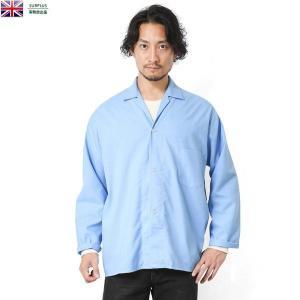 実物 新品 イギリス軍スリーピングシャツ ライトブルー デッドストック メンズ ミリタリーシャツ パジャマシャツ ワークシャツ 軍服 おしゃれ【クーポン対象外】|waiper