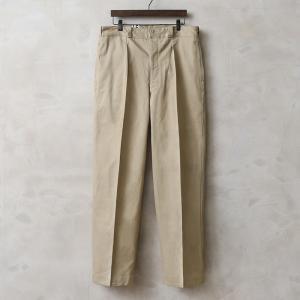 実物 新品 フランス軍 1950〜60年代 M-52 ヴィンテージ ワンタック チノトラウザー メンズ チノパン 軍パン 長ズボン ワイド ゆったり 軍服【クーポン対象外】|waiper