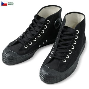 実物 新品 チェコ軍 ARMY トレーニング キャンバス スニーカー BLACK メンズ レディース ハイカット 靴 シューズ ミリタリー【Zo】【クーポン対象外】|waiper