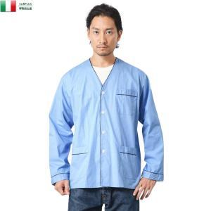 実物 新品 イタリア軍 スリーピングシャツ メンズ ミリタリーシャツ パジャマシャツ ワークシャツ 長袖 軍服 ゆったり おしゃれ お洒落【クーポン対象外】|waiper
