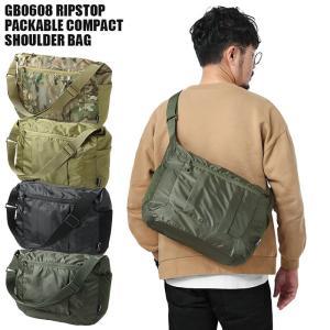 GB0608 リップストップ PACKABLE コンパクト ショルダーバッグ エコバッグ メンズ 折りたたみ パッカブル コンパクト コンビニ ミリタリー|waiper