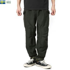 実物 新品 スウェーデン軍 M-59 カーゴパンツ BLACK染め メンズ カーゴパンツ ミリタリーパンツ 軍パン ワイド 太め 軍服 放出品【クーポン対象外】|waiper