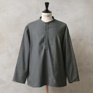 実物 新品 ロシア軍 70s スリーピングシャツ Olive Gray メンズ レディース パジャマ ミリタリーシャツ ノーカラー 軍服 放出品 おしゃれ【クーポン対象外】 waiper