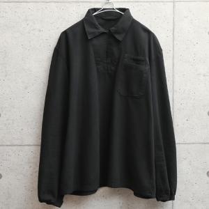 実物 新品 デッドストック チェコ軍 プルオーバーワークシャツ BLACK染め メンズ ミリタリーシャツ 長袖 軍服 ヘリンボーン 放出品【クーポン対象外】|waiper