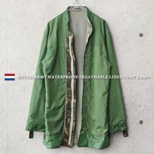 実物 USED オランダ軍 WATERPROOF ブリーザブル ライナーコート CAMO メンズ ミリタリージャケット アウター ウォータープルーフ 軍服 軍モノ【クーポン対象外】|waiper