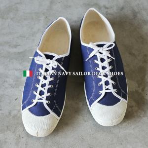 実物 新品 デッドストック イタリア軍 セーラーデッキシューズ スニーカー #2 メンズ ミリタリーシューズ 靴 ローカット ローテク 放出品【クーポン対象外】|waiper