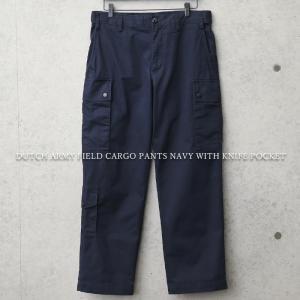 実物 USED オランダ軍 フィールドカーゴパンツ ナイフポケット付き NAVY メンズ ミリタリーパンツ 軍パン 長ズボン 太め ワイド 軍服 放出品【クーポン対象外】|waiper