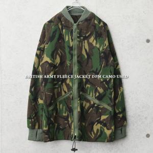 実物 USED イギリス軍 DPM CAMO RIB フリースジャケット メンズ ミリタリージャケット アウター ジャンバー 防寒着 迷彩柄 軍服 軍モノ【クーポン対象外】|waiper