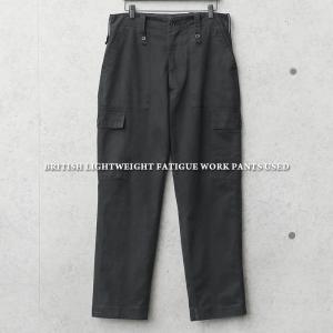 実物 USED イギリス軍 ライトウェイト BLACK ファティーグ パンツ メンズ カーゴパンツ ミリタリーパンツ ベイカーパンツ 軍パン 長ズボン【クーポン対象外】|waiper