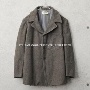 実物 USED イタリア プリズナー ウールジャケット メンズ ミリタリージャケット アウター コート ジャンバー 軍モノ 軍服 放出品【クーポン対象外】|waiper