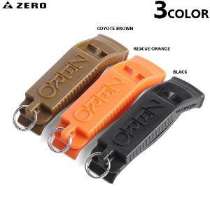 ZERO ゼロ ZW-070 ミリタリー ホイッスル 3色 笛 アウトドアグッズ キャンプ用品 道具 非常用アイテム 防災グッズ 災害グッズ ブランド
