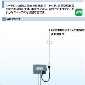DXアンテナ AMラジオ帯用アンテナ (FM/TV混合器付) A100KM|waiwai-d