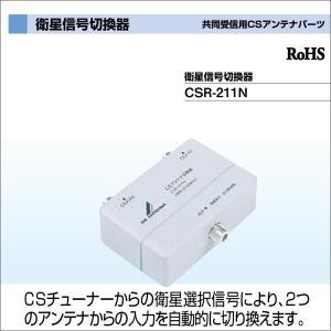DXアンテナ 共同受信用CSアンテナパーツ 衛星信号切換器 CSR-211N waiwai-d