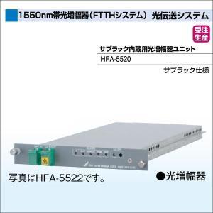 DXアンテナ 光伝送システム 1550nm帯光増幅器(FTTHシステム) サブラック内蔵用光増幅器ユニット HFA-5520|waiwai-d