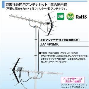 DXアンテナ 家庭用UHFアンテナ 京阪神地区用アンテナセット/混合器内臓 UA14P3MK|waiwai-d