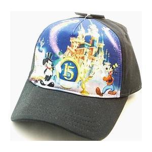 ディズニー パリ15周年記念帽子 大人用 黒|waiwaicompany