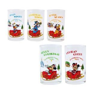 ミッキー 2019 ディズニークリスマス レトロなデザインのクリスマスグッズ グラスセット おみやげ 東京ディズニーランド|waiwaicompany