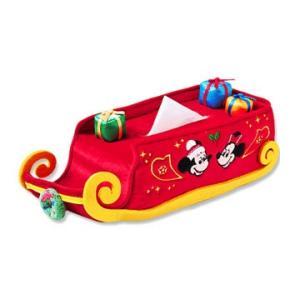 ミッキー 2019 ディズニークリスマス レトロなデザインのクリスマスグッズ ティッシュボックスカバー おみやげ 東京ディズニーランド|waiwaicompany
