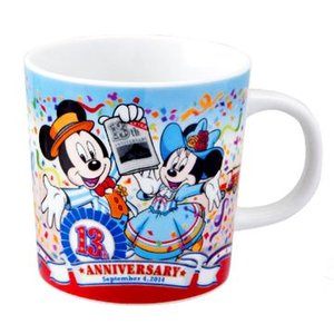 東京ディズニーシー 13周年アニーバーサリー  2014年 ミッキーミニー柄のマグ