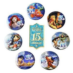 東京ディズニーシー 15周年 ザ・イヤー・オブ・ウィッシュ ウィッシュ 缶バッジ&ピンセット|waiwaicompany