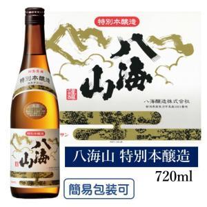 八海山の持ち味である、サラリとした味わいを保ちながら、普通酒に比べると、よりしっかりした飲み口の辛口...
