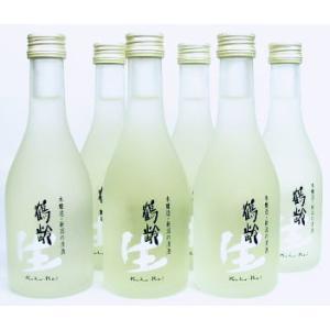 日本酒 鶴齢 吟醸生酒300ml×6本ダンボール箱入り