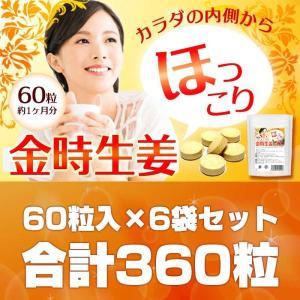 金時生姜サプリメント60粒 6袋セット 合計360粒 おまけ酵素サプリ30粒 メール便送料無料|wakasugi2012