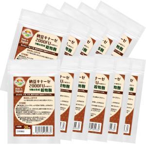 納豆サプリメント 熟生ナットウキナーゼ&レシチン 30粒 合計300粒 10袋まとめ売り送料無料 |wakasugi2012