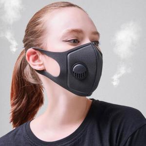 スポンジングマスク 呼吸弁付 ブラック 通気性のある快適素材|wakasugi2012