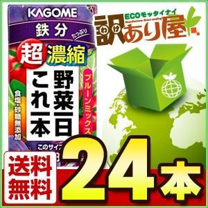 カゴメ 野菜一日これ一本 超濃縮 鉄分 125ml×24本 ...