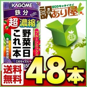 カゴメ 野菜一日これ一本 超濃縮 鉄分 125ml×48本 ...
