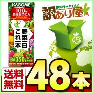 カゴメ 野菜一日これ一本 200ml紙パック×48本 野菜ジ...