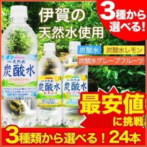 伊賀の天然水 炭酸水・レモン・グレープフルーツ500mlペッ...