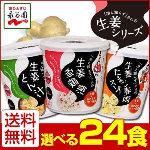 選べる4種 永谷園 「冷え知らず」さんの生姜カップスープシリーズ 24個セット 冷え知らずさんホットスムージーも 近畿A 宅配便B