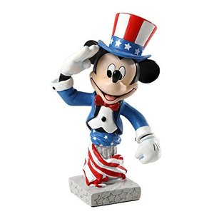Enesco Grand Jester Studios Patriotic Mickey Figurine, 5-Inch|wakiasedry