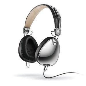 Skullcandy Aviator Headphones Mic3 (Chrome/Black) ヘッドホン(イヤホン)|wakiasedry