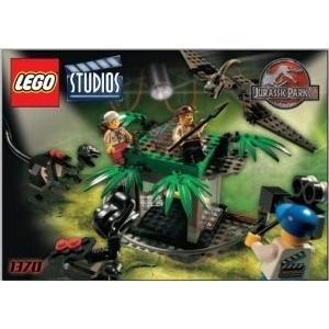LEGO (レゴ) Studios Set #1370 Jurassic Park (ジュラシックパーク) 3 Raptor Rumble Studio ブロック|wakiasedry