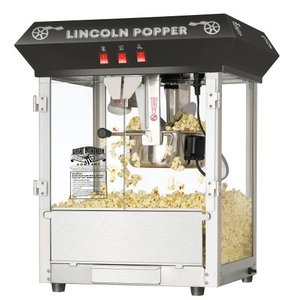 Great Northern Popcorn Black Bar Style Lincoln 8 Ounce Antique Popcorn Machine (Bar Style) |wakiasedry