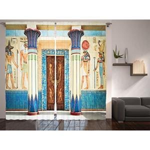 【商品名】Ambesonne Apartment Decorコレクション、パネルカーテン 2枚セット...