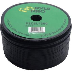 Pyle 12-AWG スピーカーケーブル 91.44m巻 黒ラバージャケット- PSCBLF300|wakiasedry
