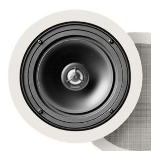 Definitive Technology UIW63/A Round In-Ceiling Speaker スピーカー (Pair ペア, White)|wakiasedry