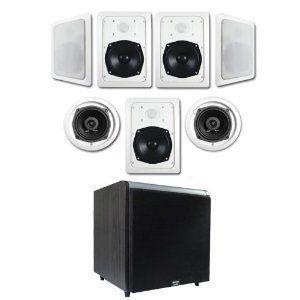 7.1 In-Wall/Ceiling Speaker スピーカー System (HT-57) w/Black 10